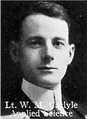 Photo of William Carlyle– From: The Varsity Magazine Supplement published by The Students Administrative Council, University of Toronto 1916.  
