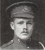 Photo of Robert Kirby– Cpl. Robert W. Kirby was the brother of Gnr. Richard Goodlass Kirby.  Source:  Trinity War Book, Trinity Methodist Church, Toronto, 1921.
