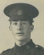 Photo of Charles Stobie McLean– Charles Stobie McLean grew up on Fair Isle in Shetland, Scotland.  Moved to Canada in 1911 and worked as a clerk for the Hudson Bay Company.  Joined the 61st Battalion in 1915 and along with his brother Kenneth McLean went to Europe in early 1916 where they were both transferred to the 44th Battalion.  Charles was wounded on October 21, 1916 and died the next day.  His brother Kenneth was killed three days later on October 25, 1916.