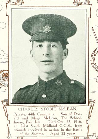 Photo of CHARLES STOBIE MCLEAN– Submitted for the project, Operation: Picture Me