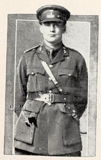 Photo of ERNEST RICHARD GILMER– Photo from the National Memorial Album of Canadian Heroes c.1919. Submitted for the project, Operation: Picture Me.