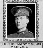 Photo of Ernest Gilmer– From: The Varsity Magazine Supplement published by The Students Administrative Council, University of Toronto 1918.  