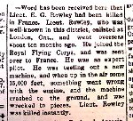 Newspaper Clipping– This notice appeared in the Burlington Gazette (Burlington, Ontario, Canada) on August 1st, 1917.