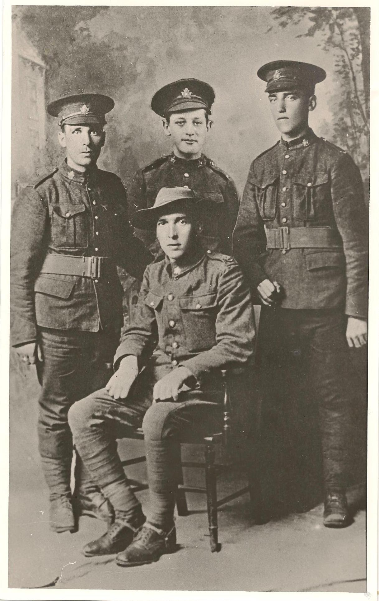 Group Photo– The Chase Brothers, Tom, Joe, Cyril, standing; George seated