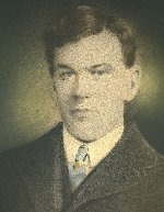 Photo of Martin Dalton– This is the only known picture of Martin Dalton. The original appears to be a photograph to which colour was added by hand painting.  Martin Dalton joined the Canadian Army in December, 1914, very soon after the First World War broke out.  He died in Halifax in April, 1915 either as a result of an infection from being bitten by a horse, or by being trampled by a horse, while trying to load a horse on board a ship bound for Europe. He was 23 or 24 years old.  Martin had a brother (John) who was killed in action at Vimy Ridge, and another brother (Michael) who was wounded in action several times but who survived the war.
