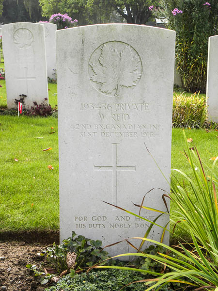 Photo of WILLIAM REID– Submitted by 15th Bn Memorial Project Team.  DILEAS GU BRATH