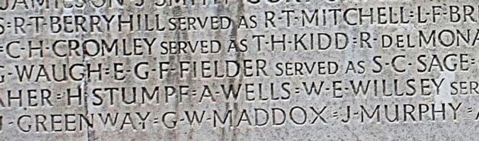 Memorial– Inscription – His name as it is inscribed on the Vimy Memorial. Over 11,000 fallen Canadians having no known place of burial in France, are honoured on this Memorial. May they never be forgotten. (J. Stephens)