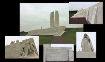 Memorial– Vimy Memorial – Canada's Vimy Memorial, located approximately 8 kilometres to the north-east of Arras, France. May the sacrifice of so many never be forgotten. (J. Stephens)