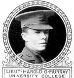 Photo of Harold Murray– From: The Varsity Magazine Supplement Fourth Edition 1918