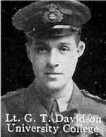 Photo of George Davidson– From: The Varsity Magazine Supplement published by The Students Administrative Council, University of Toronto 1916.   Submitted for the Soldiers' Tower Committee, University of Toronto, by Operation Picture Me.