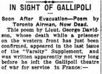 Newspaper Clipping (4)– A poem written by Sub-Lieutenant George Thorold Davidson.
