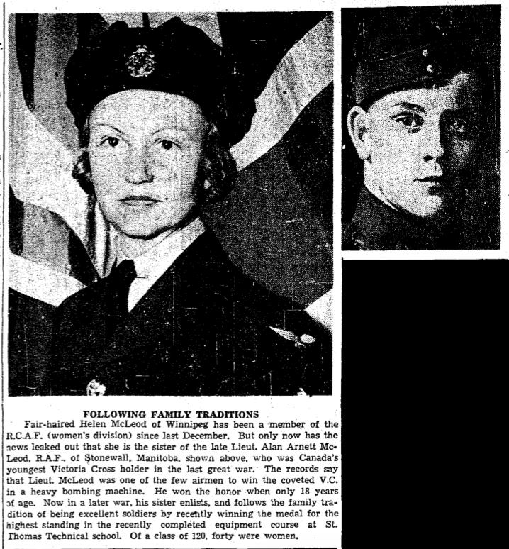 Coupure de presse – Tiré du Toronto Star mars 1942. Soumis dans le cadre du projet: Operation Picture Me
