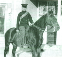 Photo of ALAN ARNETT MCLEOD– Alan McLeod, aged 14, in the summer of 1913, when he trained with The 34th Fort Garry Horse, a Winnipeg-headquartered cavalry regiment of the Non-Permanent Active Militia (as Canada's reserve army was then known).  McLeod's interest in the military clearly pre-dated World War I.  (Photo credit: Library and Archives Canada, C-027812)