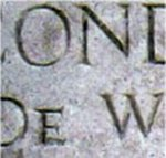 Inscription– Memorial inscription honouring 2 Lieutenant De Wind at Pozieres British Cemetery.