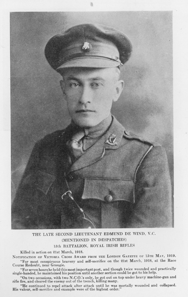 Photo of Edmund de Wind– From Vol 1 of Letters From The Front By The Canadian Bank Of Commerce.
