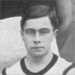 Photo of Robert Alexander Rankine Campbell– Torontonensis 1913 (University of Toronto Year Book), pg. 308.  Caption: TRINITY HARRIER TEAMS (Inter-Faculty Champions - 1st and 2nd in Brotherton Cup Race.)