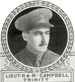 Photo of Robert Campbell– From: The Varsity Magazine Supplement published by The Students Administrative Council, University of Toronto 1918.   Submitted for the Soldiers' Tower Committee, University of Toronto, by Operation Picture Me.