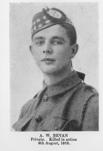 """Photo of Alfred William Bean– From the book """"Letters From The Front 1914 - 1919"""" published by The Canadian Bank of Commerce."""