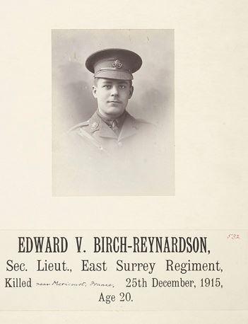 Photo of Edward Vere Birch Reynardson– Taken from his School archive at Cheltenham College.