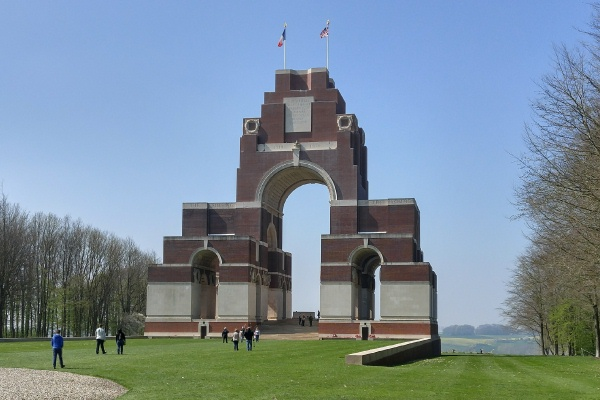 Thiepval Memorial– April 2017 … photo courtesy of Marg Liessens