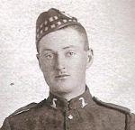 Photo of James Andrew Adams– in uniform- photo postcard