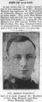 Newspaper clipping– Orillia Times, 29 Aug 1918.  Photo appeared in 05 Sep 1918 issue.