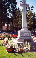 Salmon Arm War Memorial– Second Lieutenant Edwin Ibbotson, MC is commemorated on the War Memorial dedicated to local veterans and war dead of the First and Seocnd World Wars and the Korean War.