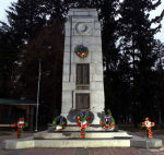 Armstrong War Memorial– Second Lieutenant Edwin Ibbotson, MC is commemorated on the Cenotaph located at Memorial Park, Armstrong, British Columbia.
