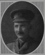 Photo of Robert Hugh Harris– Robert Hugh Harris, Second Lieutenant, West Riding Regiment. Robert was the son of Edward Charles & Emily Charlotte Harris, of Bryn Towy. He was commissioned into the West Riding Regiment, and was posted to their 8th Battalion, attached to the 34th Brigade, 11th (Northern) Division. On the 1st July, 1915 the Division sailed from Liverpool, landing at Alexandria, before moving on to Mudros, completing concentration by the 28th July, 1915. They landed at Suvla Bay, Gallipoli on the 7th August, 1915 and remained there until the evacuation on the 21st December, 1915, when they moved to Egypt. During July 1916 the Division landed at Marseilles, and then spent remainder of the war on the Western Front, fighting at the Battle of Flers-Courcelette during the Somme Offensive, and it was around this time that Robert was killed, on the 28th September, 1916. He was 39 years old, and is commemorated on the Thiepval Memorial, as his grave could not be identified after the war.