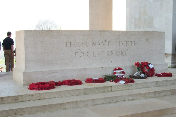 Stone of Remembrance– Thiepval Memorial - April 2017 … photo courtesy of Marg Liessens