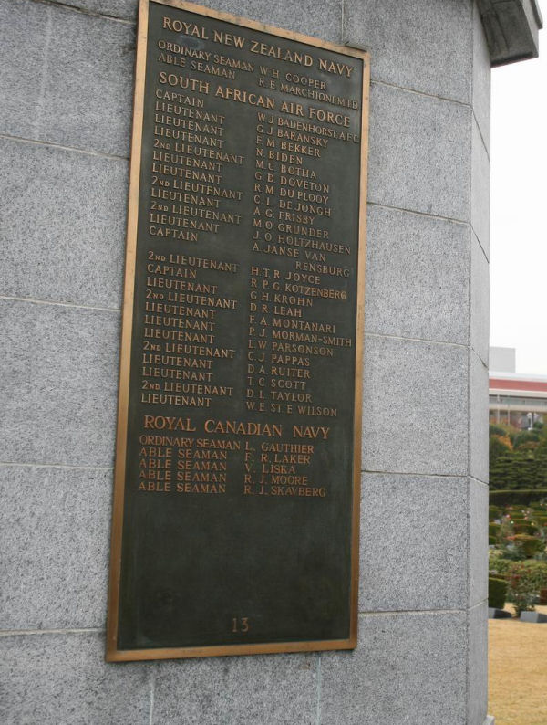 Inscription on Commonwealth Memorial in South Korea