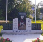 Korea War Memorial– Lance Corporal Johnstone is commemorated on the Nova Scotia Korea War Memorial with his fellow Nova Scotians who lost their lives in the Korean War.  The Memorial is located at Pleasant and Parade Streets in Yarmouth, Nova Scotia.  It was unveiled and dedicated in a ceremony on 16 August 2003.