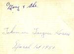 La signature de Norman Letkeman