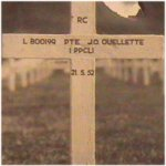 Gravemarker– This is an official government photo of my Uncle James burial site, that my father had with the portrait.