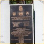 Memorial– A closer view of the central portion of the Korea Veterans' National Wall of Remembrance, Meadowvale Cemetery, Brampton, Ontario.  Photo courtesy of Craig B.Cameron.