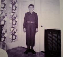 Photo of LEO JOSEPH TELLIER– Sunday Feb. 10th-1952 In Grandma Tellier's house in Belle River, Ontario.