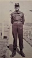 Photo of LEO JOSEPH TELLIER– Uncle Leo at a Military Cemetery Korea  Date unknown