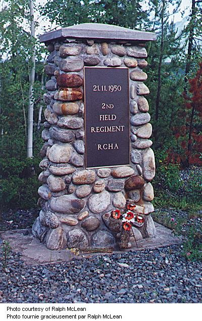 Memorial at Canoe River