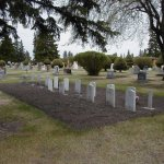 Neepawa Riverside Cemetery– Overview of Veteran's Plot in Neepawa Riverside Cemetery. Has to be one the prettiest cemeteries around. In the summer, flowers are plotted in this plot and the whole cemetery is in bloom.