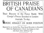 Newspaper Clipping– Clipping from the Toronto Star for 26 February 1900, page 1.