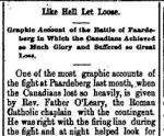 Newspaper clipping– From the Perth Courier for 20 April 1900, page 7, describing the burial of those who died on 18 February at Paardeberg.