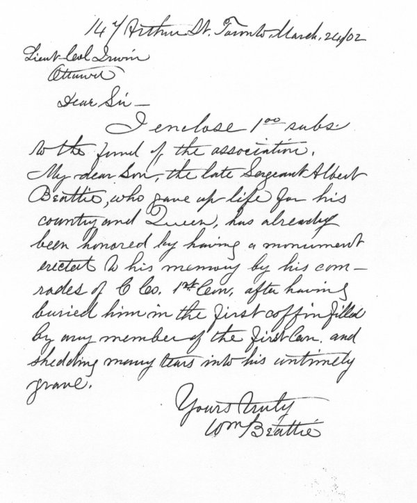 Letter of March 24, 1902