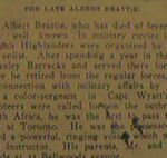 Death Announcement for Albert Beattie