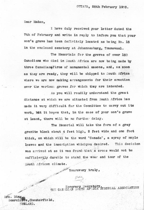 Lettre février 25 1903