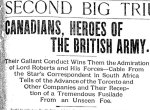 Newspaper Clipping– From the Toronto Star for 1 March 1900.