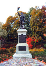 Monument– A bronze statue and stone shaft in Confederation Park, 123 Laurier Avenue West, Ottawa, ON is a monument to the Ottawa volunteers who died in the South African War. Made by the sculptor, Hamilton MacCarthy, it was installed here in 1969, after several moves. Its original location was near the old City Hall which used to stand on Elgin Street. Some believe that the model for the soldier was the sculptor's son, Coeur de Lion MacCarthy, who made many of the carvings for the Centre Block. Other works by the father include the Champlain monument at Nepean Point and that of Ottawa mayor, Samuel Bingham, in Notre-Dame Cemetery in Vanier. -------------------------------------------------------------------------------- [upper plaque/plaque du haut]  ERECTED BY 30,000 CHILDREN OF OTTAWA AND ADJOINING COUNTIES IN MEMORY OF  TPTR. G. BRADLEY DR. R. BRADLEY GR. E. PIGOTT CPL. W.S. BRADY PTE. O.T. BURNS PTE. H. COTTON CPL. C. THOMAS PTE. E. DESLAURIERS PTE. W.A. HULL PTE. Z.R.E. LEWIS PTE. F.J. LIVING PTE. E. MCINTOSH PTE. W.H.J. ROSS WHO LOST THEIR LIVES IN THE SOUTH AFRICAN WAR 1900 - 1901  [lower plaque/plaque du bas]  http://www.cmp-cpm.forces.gc.ca/dhh-dhp/nic-inm/sm-rm/mdsr-rdr-eng.asp?PID=753 Photo Credit: Will Thompson; Hellmut Shade