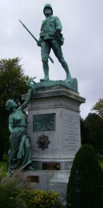 South Africa War Memorial– This is the memorial in Victoria Park, London, Ontario. It is in honour of the men from the London district, who fought for the Empire in South Africa, and in memory of those who fell.