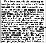 Newspaper Clipping– From the Perth Courier for 13 April 1900.