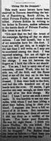 Newspaper clipping– This report appeared on page 8 of the Northern Advance newspaper (Barrie, Ontario) on 29 March 1900.