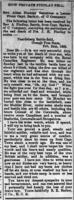 Newspaper clipping– This report appeared on the front page of the Northern Advance newspaper (Barrie, Ontario) on 5 April 1900.